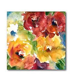 Courtside Market Watercolor Flowers I Art