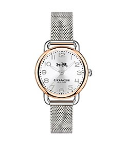 COACH WOMEN'S DELANCEY 28mm TWO-TONE MESH BRACELET WATCH