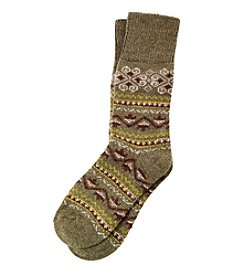 HUE® Fair Isle Boot Socks