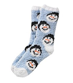 Relativity® Snowman Slipper Socks