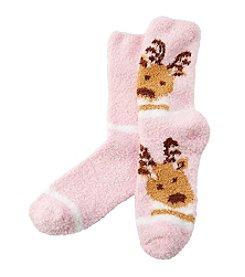 Relativity® Reindeer Slipper Socks