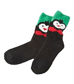 Relativity® Penguin Slipper Socks
