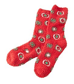 Relativity® Holiday Dot Slipper Socks