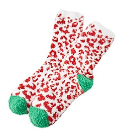 Relativity® Holiday Animal Slipper Socks