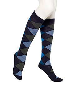 HUE® Argyle Knee Socks