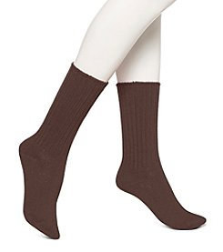 HUE® Ribbed Boot Socks
