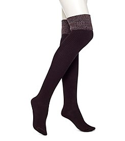 HUE® Ribbed Space Dye Over The Knee Socks