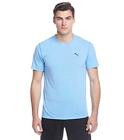 PUMA® Men's Short Sleeve Essential V-Neck Tee