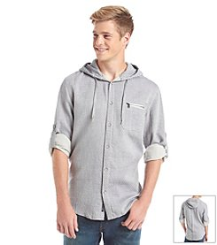 DKNY JEANS® Men's Long Sleeve Quilted Hooded Shirt