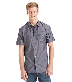 DKNY JEANS® Men's Short Sleeve Square Dobby Button Down