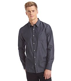 DKNY JEANS® Men's Long Sleeve Roll Tab Chambray Button Down