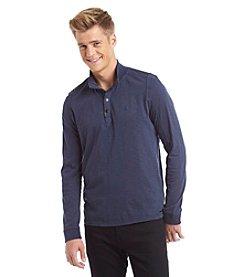 Calvin Klein Jeans Men's Long Sleeve Mockneck Contrast Shirt