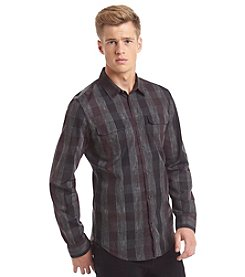 Calvin Klein Jeans Men's Long Sleeve Gingham Button Down Shirt.