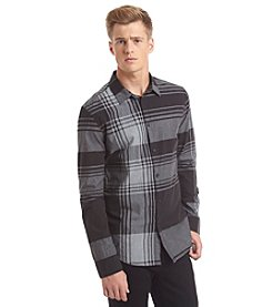 Calvin Klein Jeans Men's Long Sleeve Super Exploded Plaid Button Down Shirt