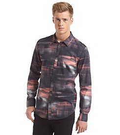 Calvin Klein Jeans Men's Long Sleeve Night Tracers Button Down