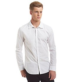 Calvin Klein Jeans Men's Long Sleeve Micro Floral Button Down