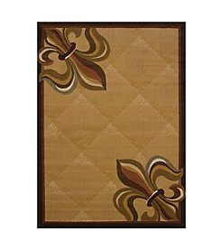 United Weavers China Garden Corner Fleur de Lys Accent Rug