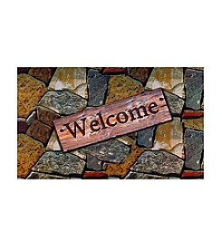 Achim Welcome Quarry Stones Outdoor Rubber Entrance Mat