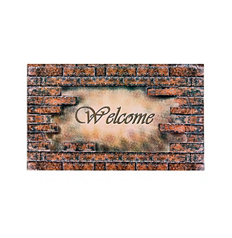 Achim Welcome Bricks Outdoor Rubber Entrance Mat