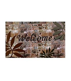 Welcome Palms Outdoor Rubber Entrance Mat