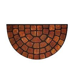 Beige Stone Raised Rubber Mat Slice