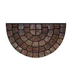 Grey Stone Raised Rubber Mat Slice