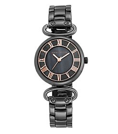 Anne Klein® Polished Grey Hinge Bracelet Watch