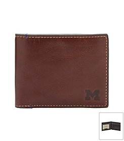 Jack Mason Men's University of Michigan Hangtime Slim Bi-fold Wallet