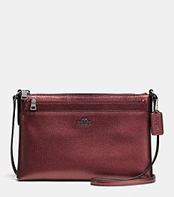 COACH JOURNAL CROSSBODY IN METALLIC PEBBLE LEATHER