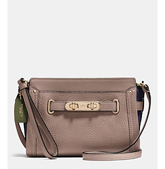 COACH SWAGGER WRISTLET IN COLORBLOCK PEBBLE LEATHER