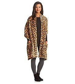 LivingQuarters Leopard Reader's Wrap with Socks Gift Set