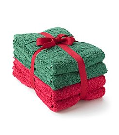 LivingQuarters Holiday 4-pk. Hand Towels