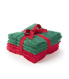 LivingQuarters Holiday 4-pk. Washcloths