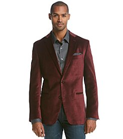 Tallia Orange Men's Floral Pattern Velvet Sport Coat