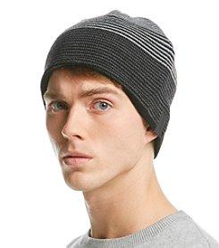 Calvin Klein Men's Reversible Stripe Ombre Beanie
