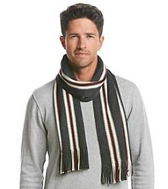 Tommy Hilfiger® Men's Textured Stitch Vertical Stripe Scarf