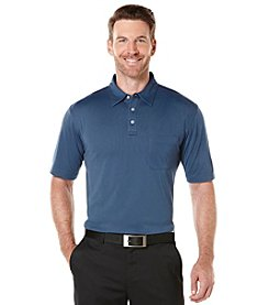 PGA TOUR® Men's Short Sleeve Mini Pocket Jacquard Polo
