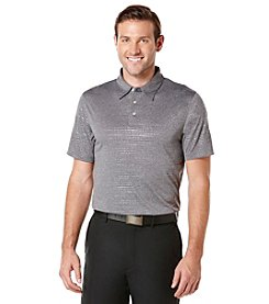 PGA TOUR® Men's Short Sleeve Embossed Heathered Polo