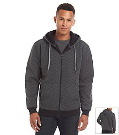 Ocean Current Men's Long Sleeve Full Zip Quilted Sherpa Hoodie