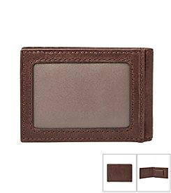 Fossil® Men's Ingram Leather Money Clip Bifold Wallet