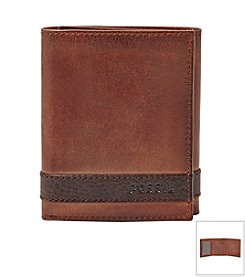 Fossil® Men's Quinn Leather Trifold Wallet