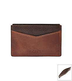 Fossil® Men's Quinn Leather Card Case Wallet