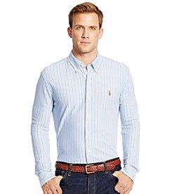 Polo Ralph Lauren® Men's Long Sleeve Striped Knit Oxford Shirt