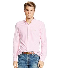 Polo Ralph Lauren® Men's Long Sleeve Striped Knit Oxford Shirt