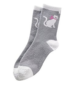 KN Karen Neuburger Fuzzy Lounge Socks