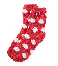 University of Wisconsin Fuzzy Dot Socks
