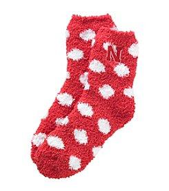 ZooZatZ™ NCAA® Nebraska Cornhuskers Women's Fuzzy Dot Socks
