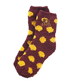 ZooZatZ™ NCAA® Minnesota Gophers Fuzzy Dot Socks