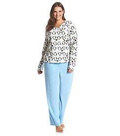 Intimate Essentials® Plus Size Long Sleeve Pajama Set