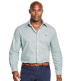 Polo Ralph Lauren® Men's Big & Tall Long Sleeve Checked Twill Button Down Shirt